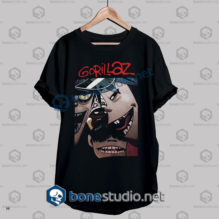 Gorillaz Face Band T Shirt