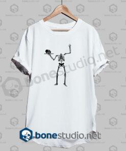halloween human skeleton funny t shirt white