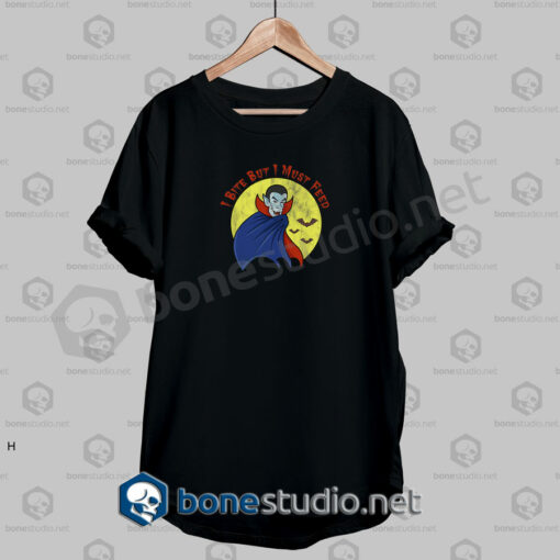 Halloween I Bite Funny Quote T Shirt