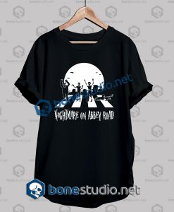 Halloween Zombie Abbey Road Funny T Shirt
