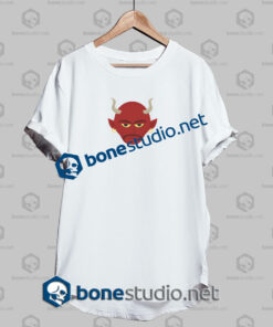 happy halloween red evil funny t shirt white