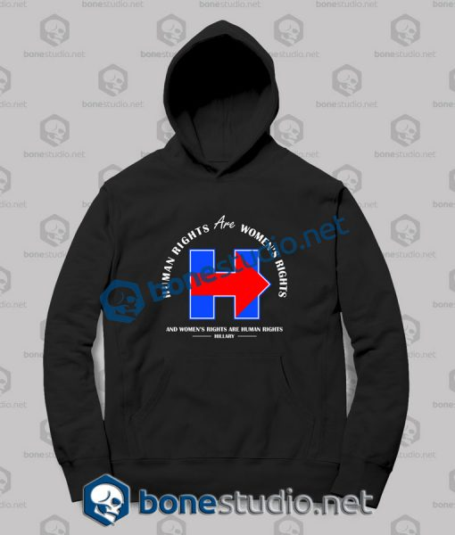 hillary women's rights quote - Hoodies