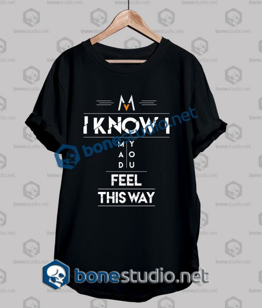 Maroon Five Mad You Feel Quote Band T Shirt