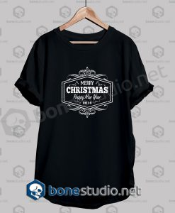 Merry Christmas And Happy New Year Grunge Quote T Shirt