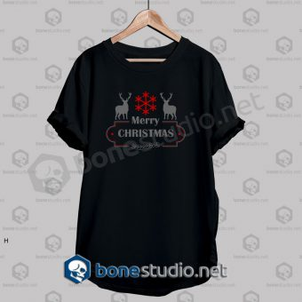 Merry Christmas Deer Quote T Shirt