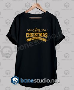 Merry Christmas Typography Quote T Shirt