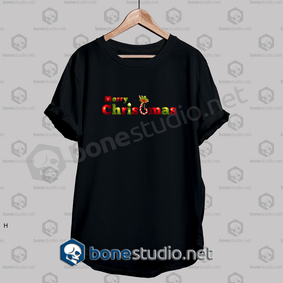 Transparant Merry Christmas T Shirt