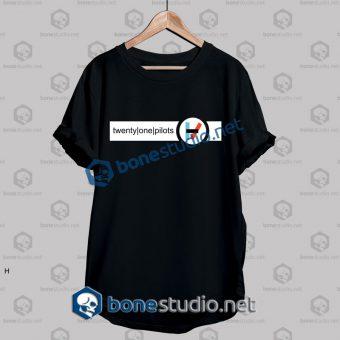 Twenty One Pilots Strip Logo Band T Shirt