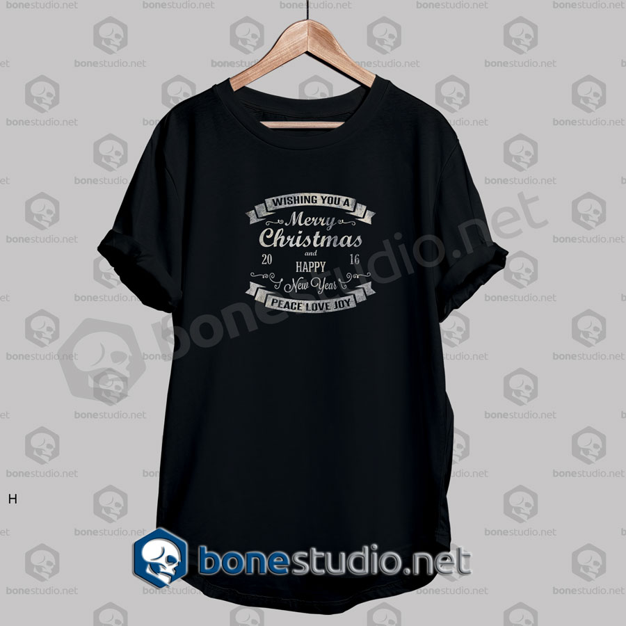 Wishing You A Christmas Vintage Quote T Shirt