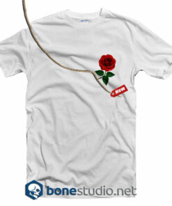 Rose Pocket Style T Shirt