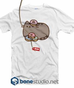 Pusheen The Cat Donuts Juniors T Shirt