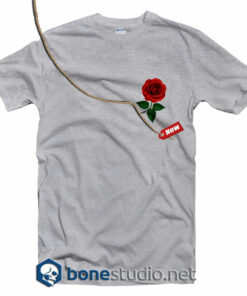 Rose Pocket Style T Shirt