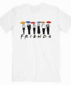 Friends Umbrella Design T Shirt