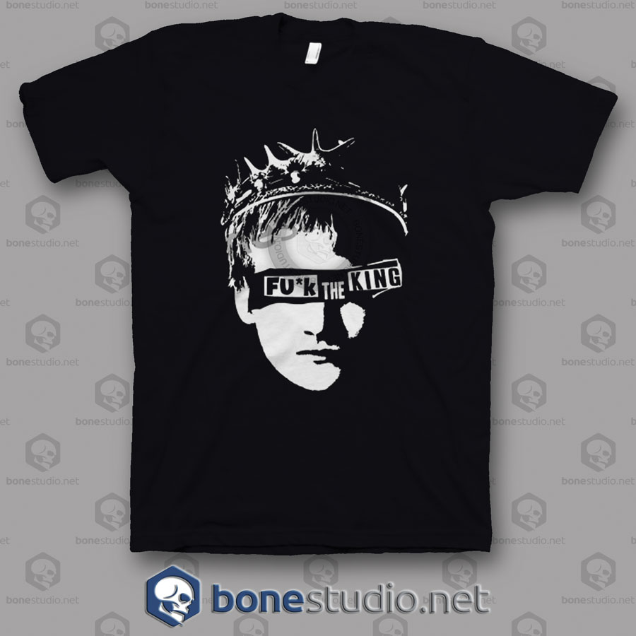 4a08a5d3eb Game Of Thrones Fuck The King Joffrey Baratheon Funny Quote T Shirt
