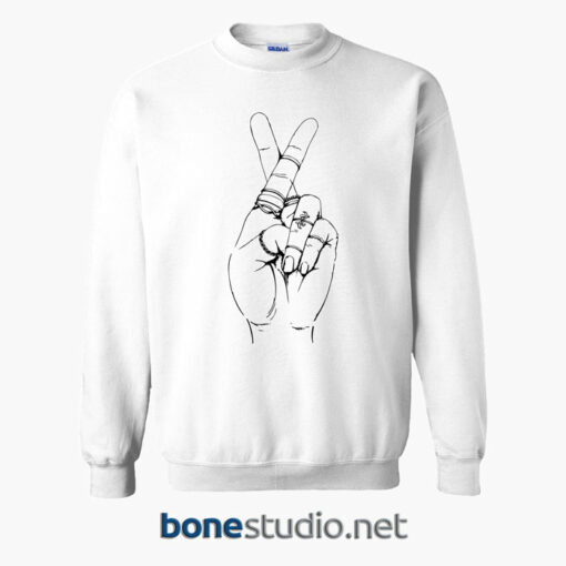 Hands Crossed Emoji Sweatshirt