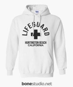 Lifeguard Huntington Beach Hoodies white