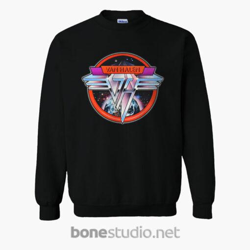 Van Halen Band Sweatshirt Space Logo