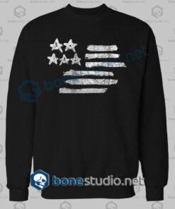 american flag stencil graphic sweatshirt