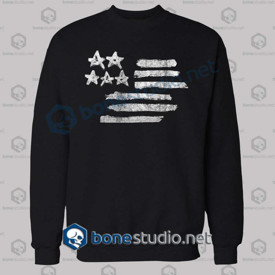 american flag stencil graphic sweatshirt