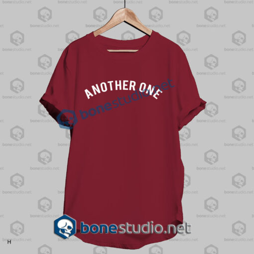 another one quote t shirt red