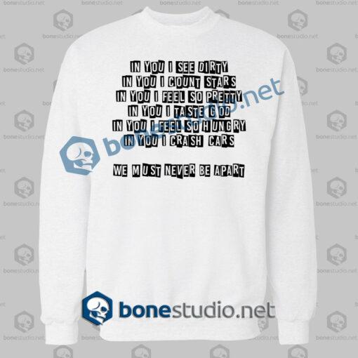 ava adore billy corgan quote sweatshirt white