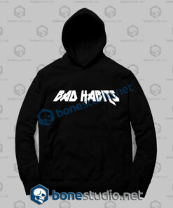 bad habits logo hoodies
