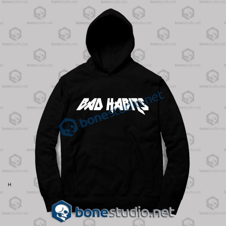 bad habits logo hoodies