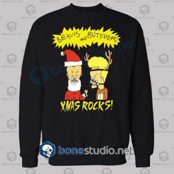Beavis And Butt Head Xmas Rocks Funny Sweatshirt