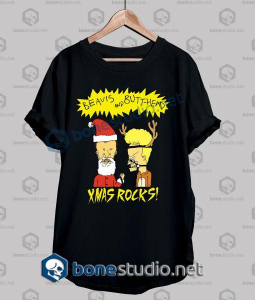 Beavis And Butt Head Xmas Rocks Funny T Shirt