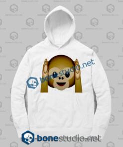 Best 3d Monkeys Emoji Funny Hoodies