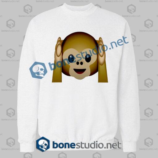 Best 3d Monkeys Emoji Funny Sweatshirt