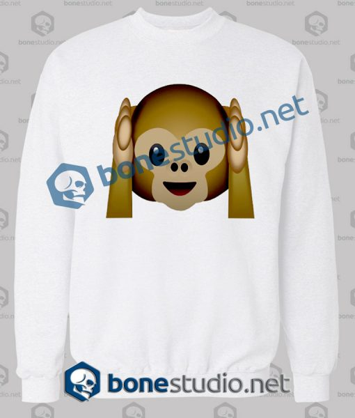 Best 3d Monkeys Emoji Funny Sweatshirt