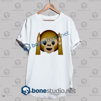Best 3d Monkeys Emoji Funny T Shirt
