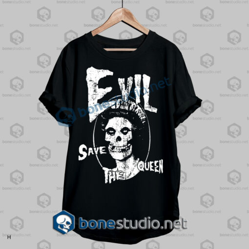 evil save the queen funny quote t shirt