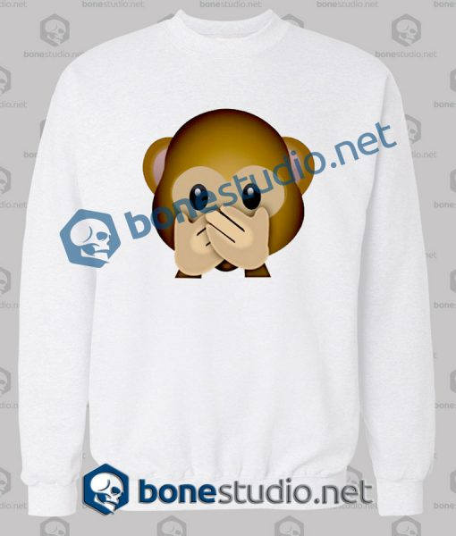 Forever 3d Monkeys Emoji Funny Sweatshirt