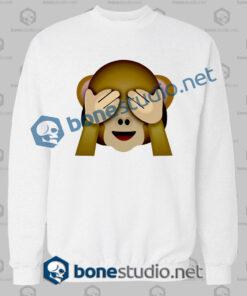 Friends 3d Monkeys Emoji Funny Sweatshirt