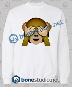 Friends 3d Monkeys Emoji Funny Sweatshirt