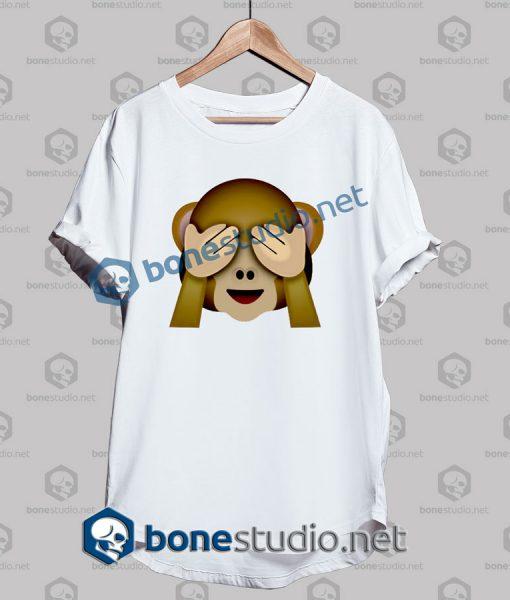 Friends 3d Monkeys Emoji Funny T Shirt