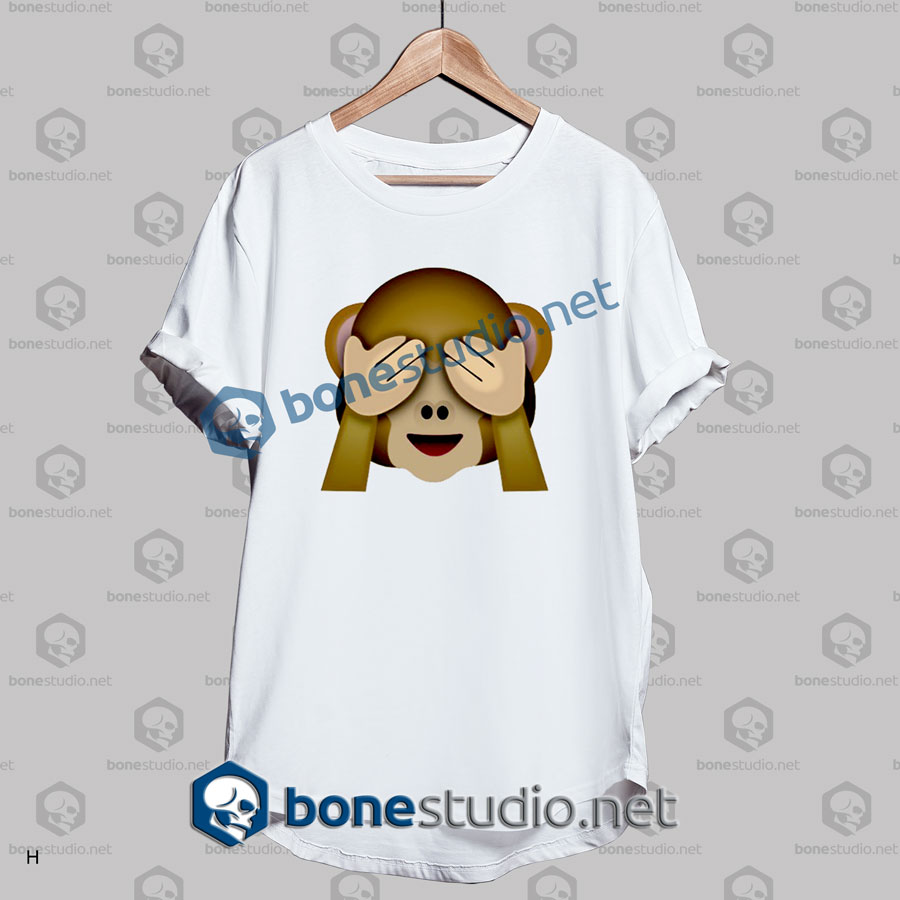 Friends 3d Monkeys Emoji Funny T Shirt
