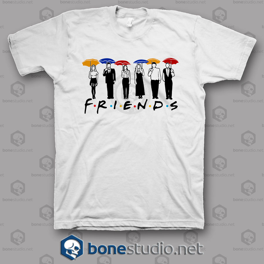 Friends Umbrella Design T Shirt
