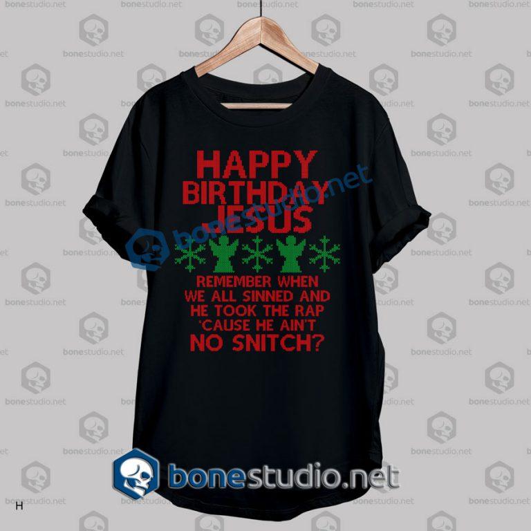 Happy Birthday Jesus Ugly Sweater T Shirt