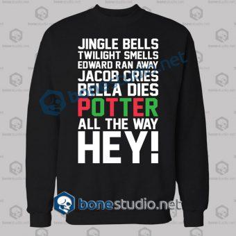 Harry Potter Jingle Bells Twilight Smells Christmas Swag Sweatshirt
