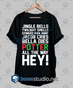 Harry Potter Jingle Bells Twilight Smells Christmas Swag Quote T Shirt
