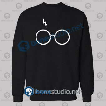 Harry Potter Lightning Glasses Logo Sweatshirt