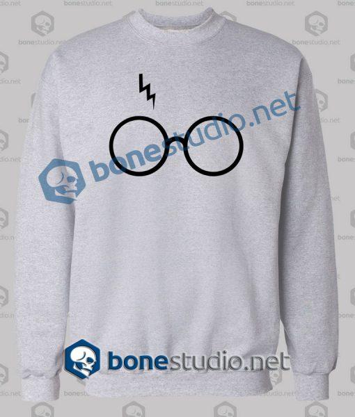 Harry Potter Lightning Glasses Logo Sweatshirt