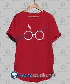 Harry Potter Lightning Glasses Logo T Shirt