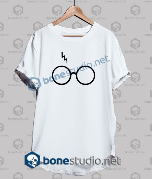 Harry Potter Lightning Glasses Logo T Shirt