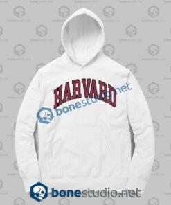 harvard college block hoodies white