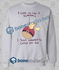Pikachu Wrecking Ball Funny Sweatshirt