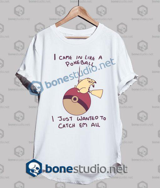 Pikachu Wrecking Ball Funny T Shirt